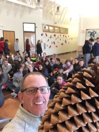 Talking - and planting - trees for Arbor Day with students in Grayslake, IL.