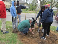 Grand Rapids community members, including Bartlett Tree Experts, gather to plant 150 trees at Mulick Park.