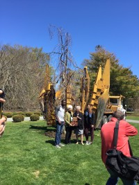 A tree planting ceremony at Salve Regina University capped off a week-long Arbor Day and Earth Day celebration in Newport, RI.