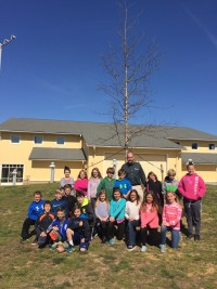Students from around the Talbot county area planted trees at school and brought seedlings home to honor Arbor Day.